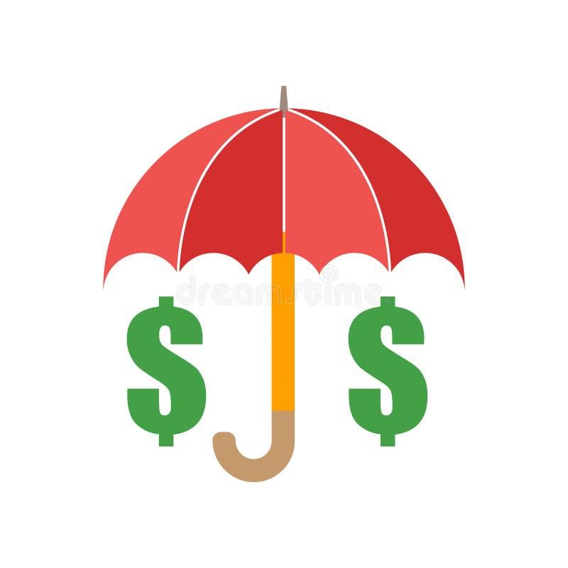 Vector del icono del seguro de la inversión aislado en el fondo blanco, muestra del seguro de la inversión, símbolos de tiempo stock de ilustración
