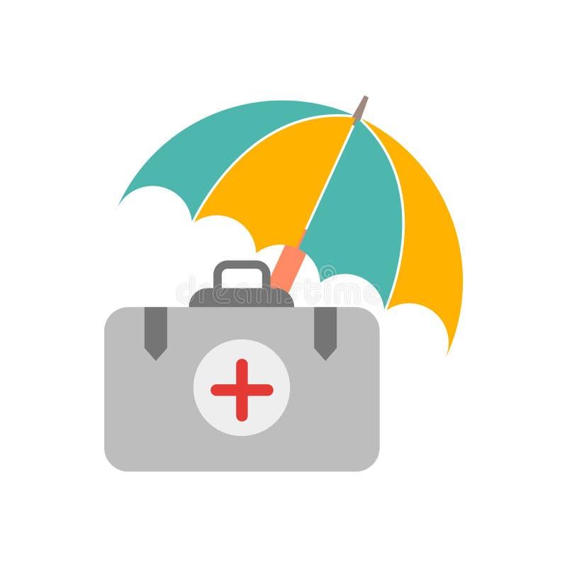 Vector del icono del seguro médico aislado en el fondo blanco, muestra del seguro médico, símbolos de tiempo libre illustration