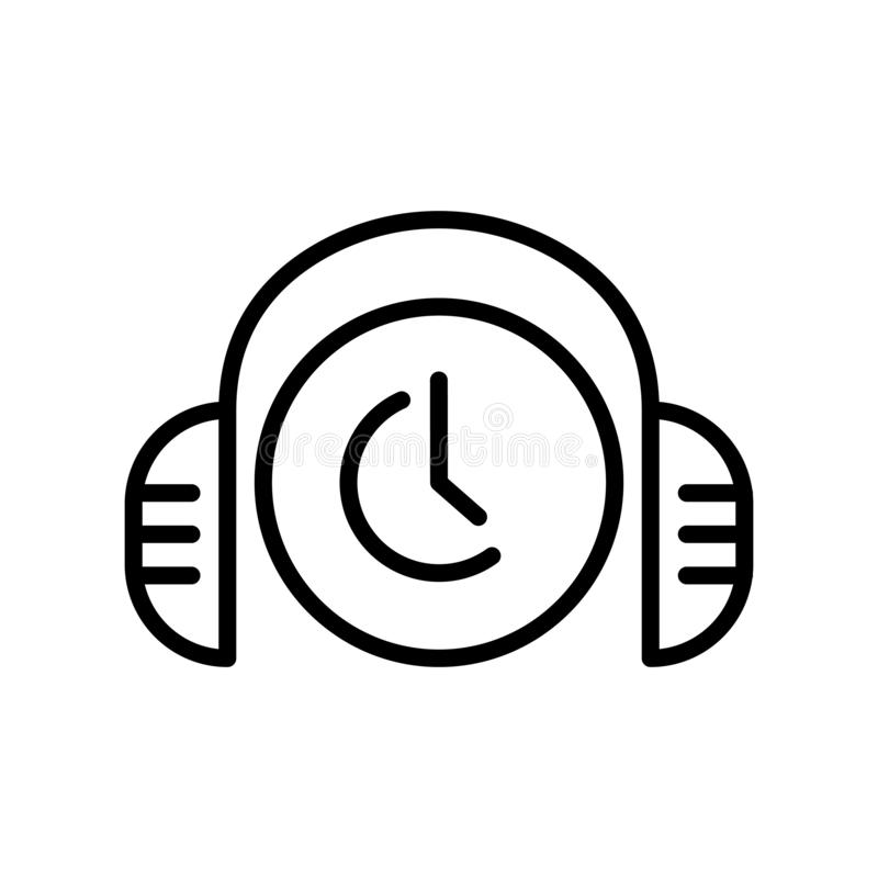 Vector del icono del servicio de atención al cliente aislado en el fondo, la muestra del servicio de atención al cliente, la líne stock de ilustración