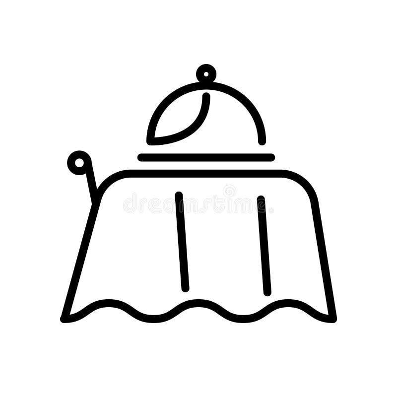 Vector del icono del servicio de habitación aislado en la muestra blanca del fondo, del servicio de habitación, la línea y elemen stock de ilustración