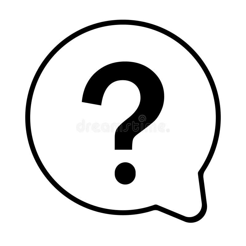 Vector del icono del signo de interrogaci?n E ilustración del vector