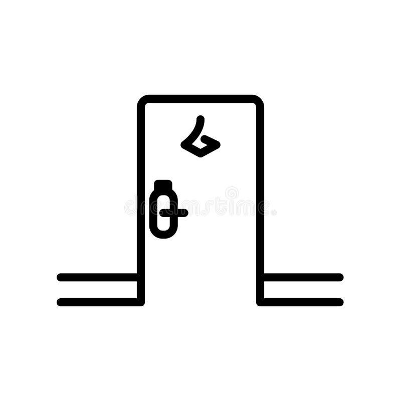 Vector del icono del sitio aislado en el fondo, la muestra del sitio, la línea y los elementos blancos del esquema en estilo line stock de ilustración