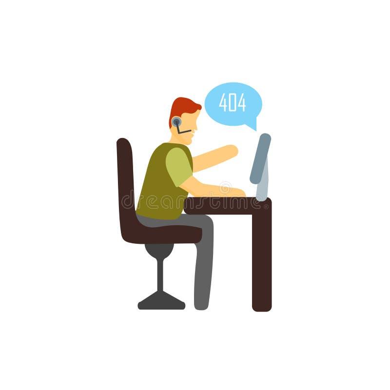 vector del icono del soporte técnico aislado en el fondo blanco, muestra del soporte técnico, colocándose personaje de dibujos an libre illustration
