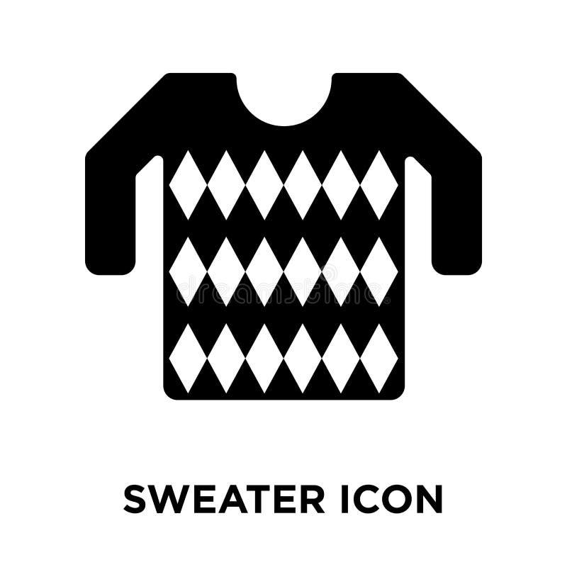 Vector del icono del suéter aislado en el fondo blanco, concepto o del logotipo stock de ilustración