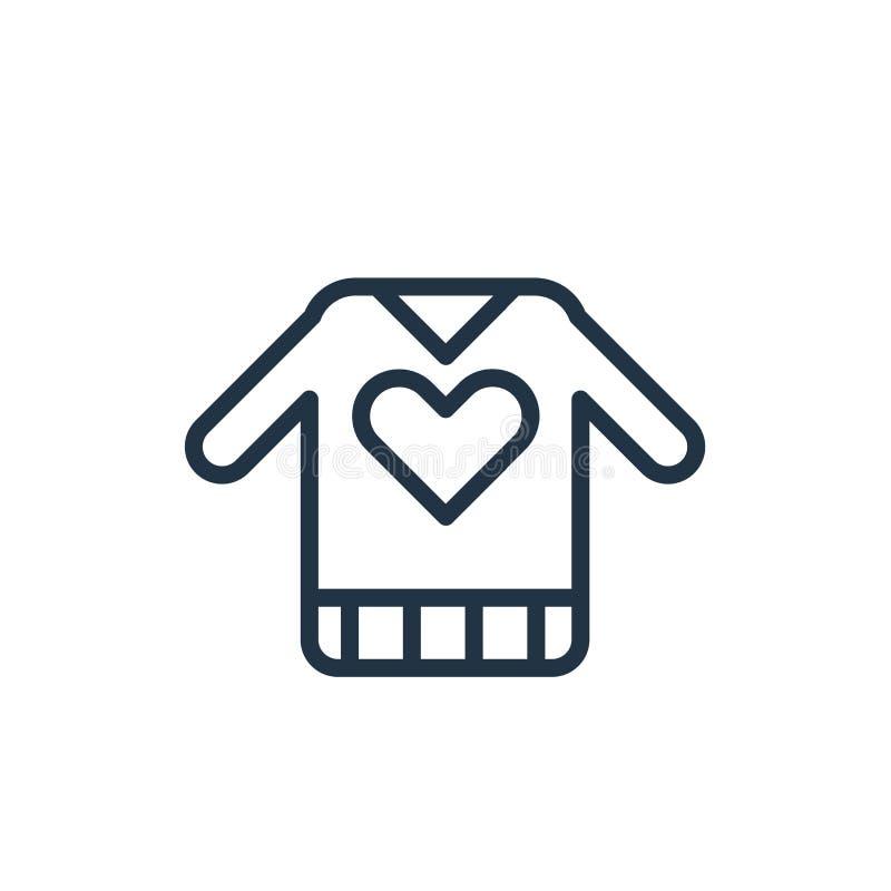 Vector del icono del suéter aislado en el fondo blanco, muestra del suéter stock de ilustración