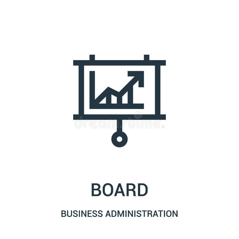 vector del icono del tablero de la colección de la administración de empresas L?nea fina ejemplo del vector del icono del esquema ilustración del vector