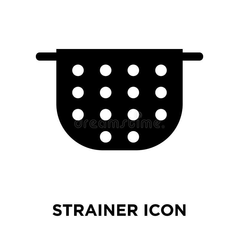 Vector del icono del tamiz aislado en el fondo blanco, concepto del logotipo stock de ilustración