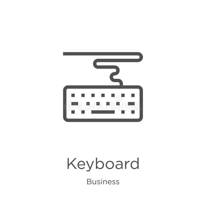vector del icono del teclado de la colección del negocio L?nea fina ejemplo del vector del icono del esquema del teclado Esquema, libre illustration