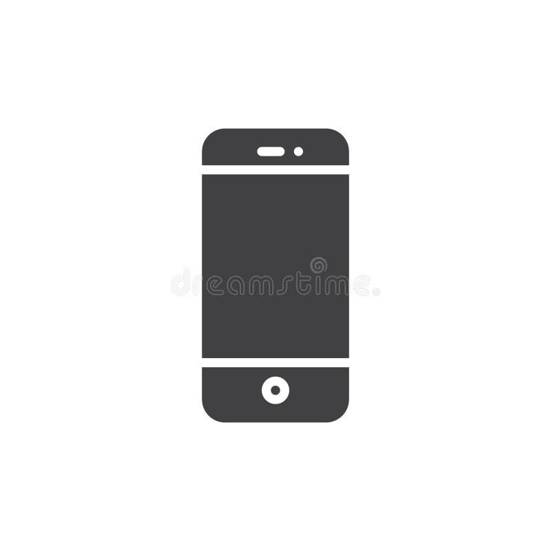 Vector del icono del teléfono móvil o del smartphone ilustración del vector