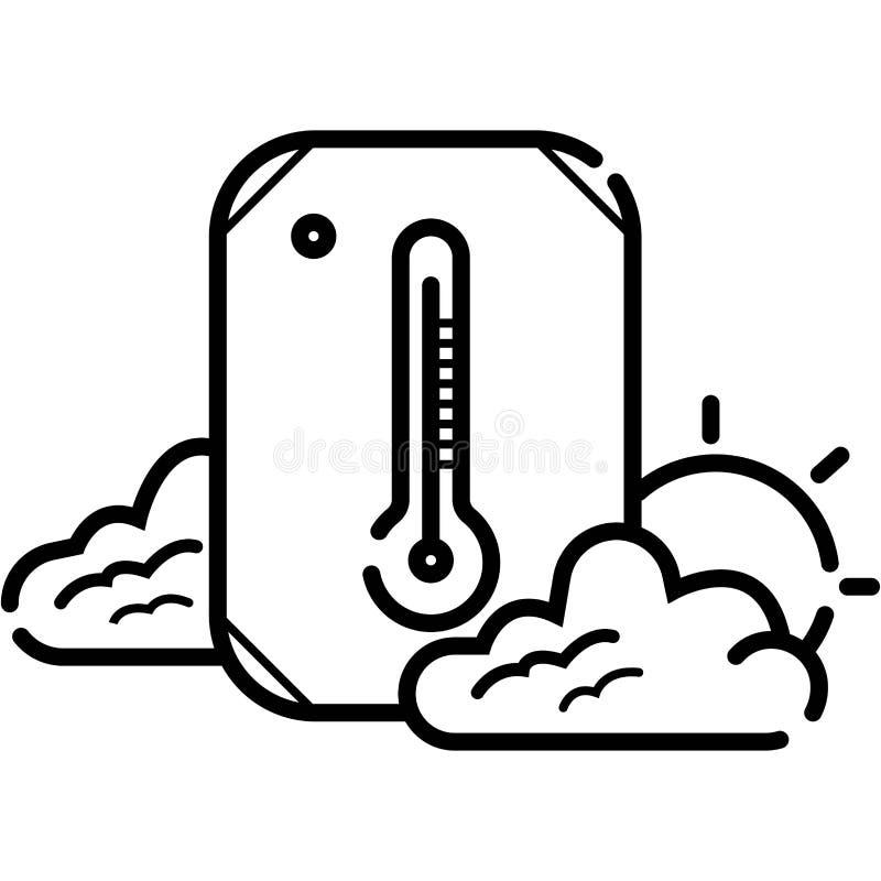 Vector del icono del term?metro stock de ilustración