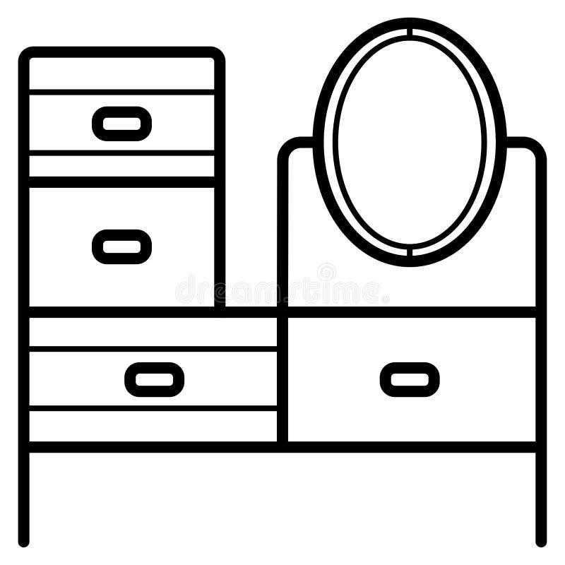 Vector del icono del tocador stock de ilustración