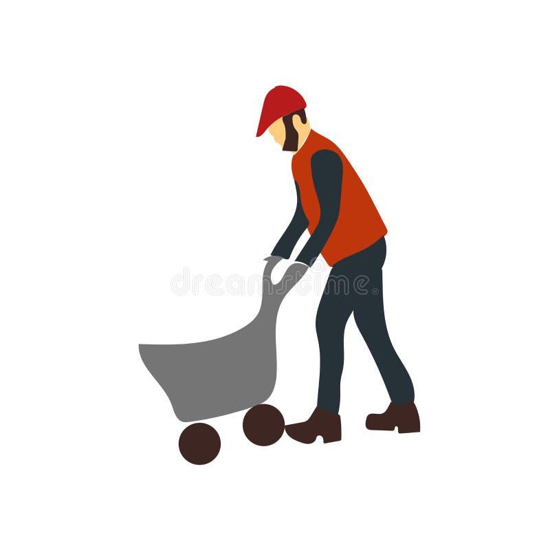 Vector del icono del trabajador aislado en el fondo blanco, muestra del trabajador ilustración del vector