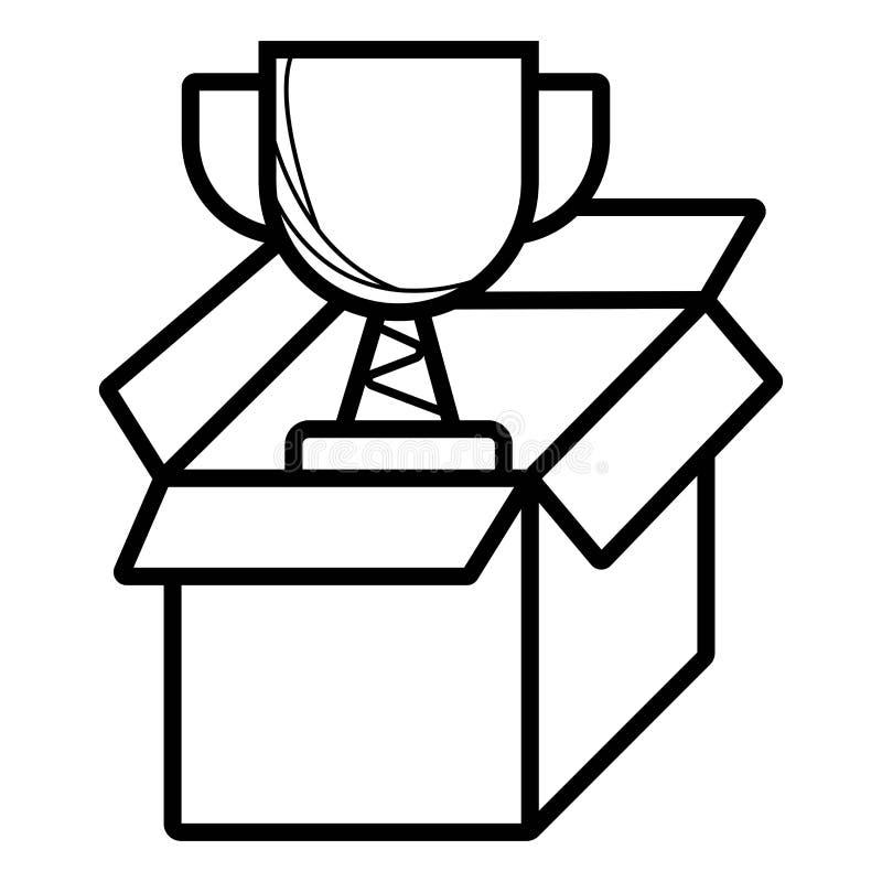 Vector del icono del trofeo stock de ilustración