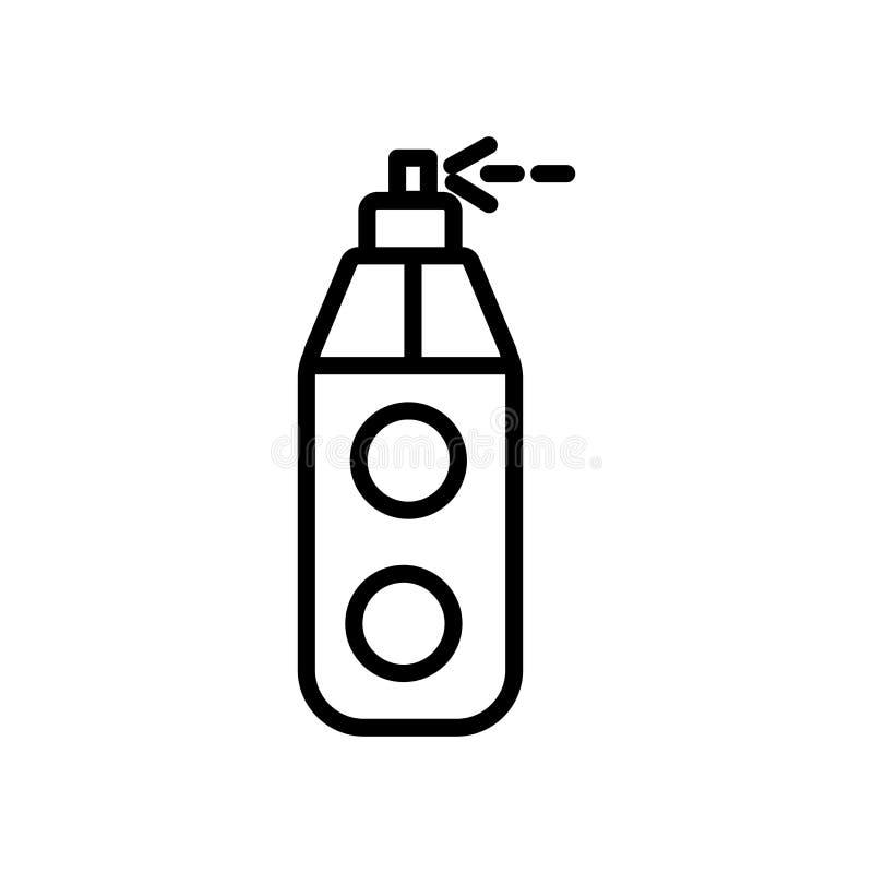 Vector del icono del tubo de la pintura aislado en la muestra blanca del fondo, del tubo de la pintura, la línea y elementos del  libre illustration