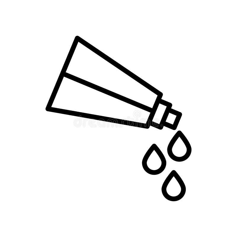 Vector del icono del tubo de la pintura aislado en la muestra blanca del fondo, del tubo de la pintura, la línea y elementos del  stock de ilustración