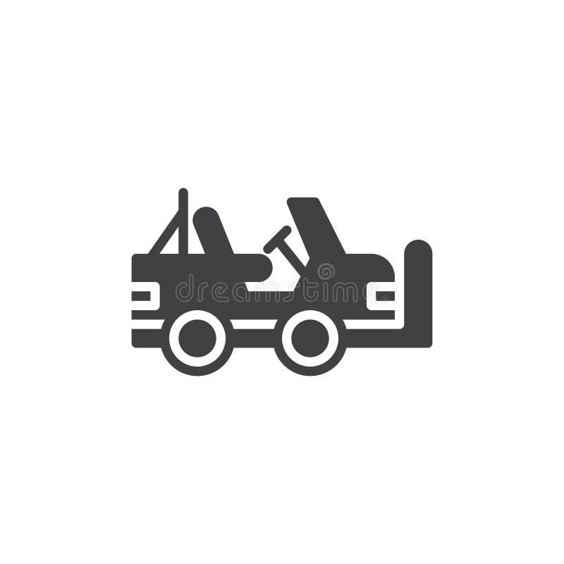 Vector del icono del vehículo militar ilustración del vector