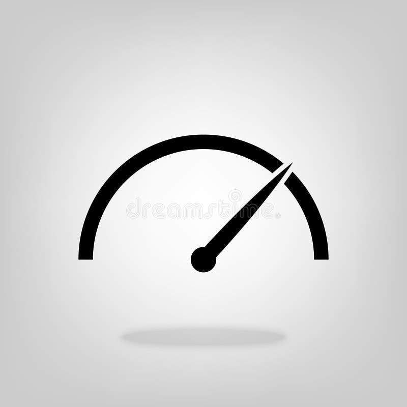 Vector del icono del velocímetro para el diseño gráfico, logotipo, sitio web, medio social, app móvil, ejemplo del ui libre illustration