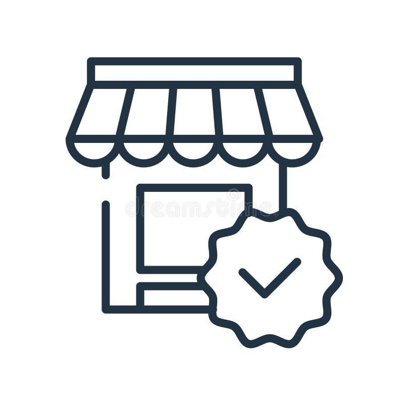 Vector del icono del vendedor aislado en el fondo blanco, muestra del vendedor ilustración del vector