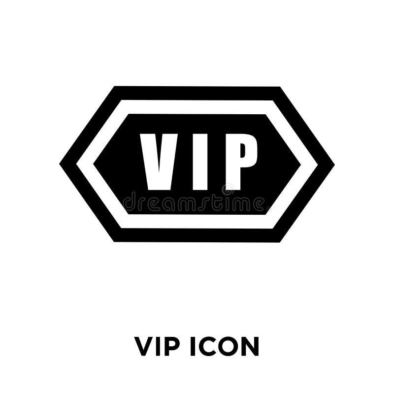 Vector del icono del Vip aislado en el fondo blanco, concepto del logotipo de VI stock de ilustración