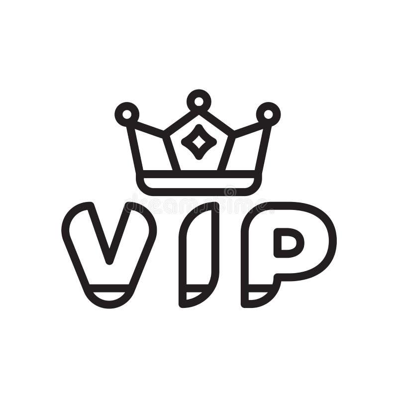 Vector del icono del Vip aislado en el fondo blanco, muestra del Vip, línea o ilustración del vector