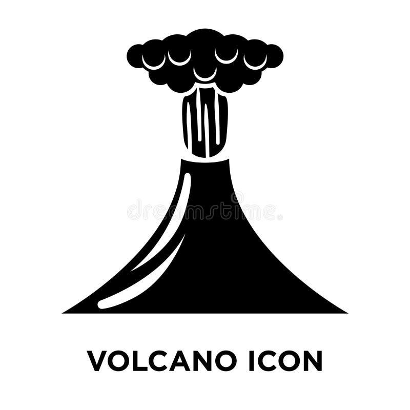 Vector del icono del volcán aislado en el fondo blanco, concepto o del logotipo ilustración del vector