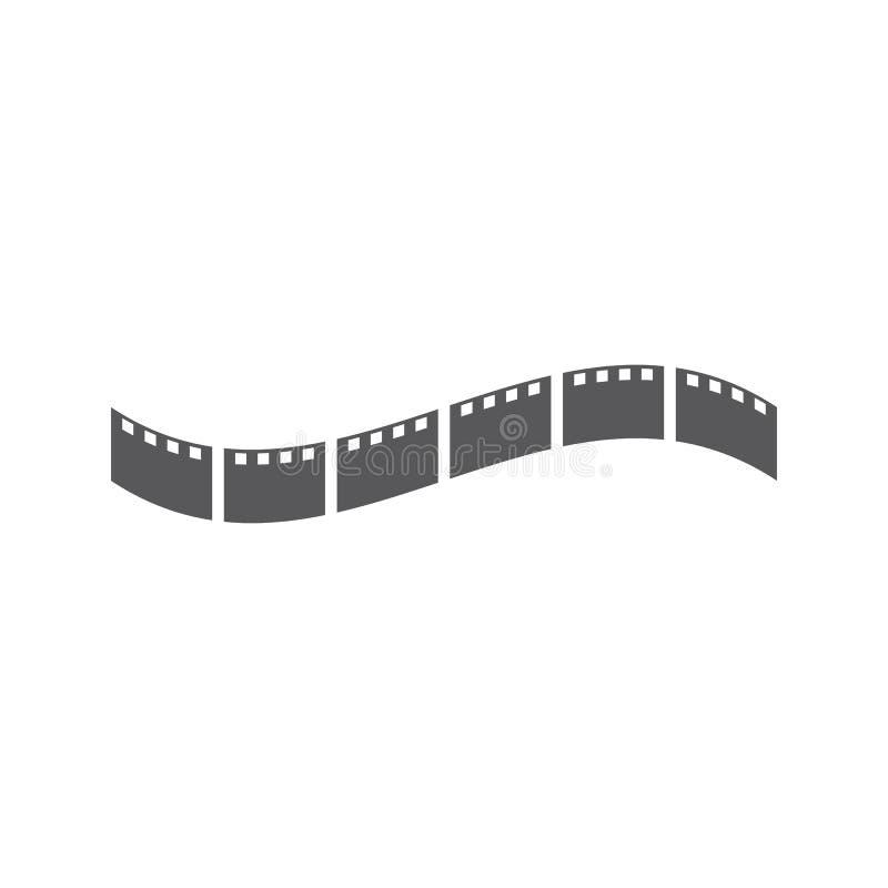 Vector del ilustration del logotipo de la película stock de ilustración