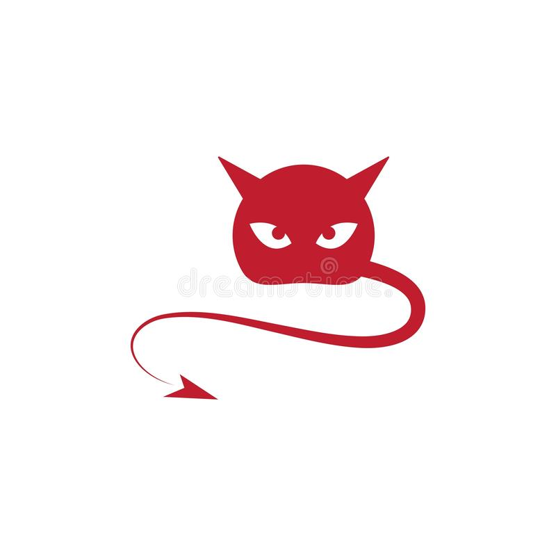 Vector del ilustration del logotipo del diablo ilustración del vector