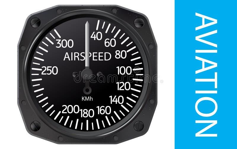 Vector del indicador de velocidad aérea libre illustration