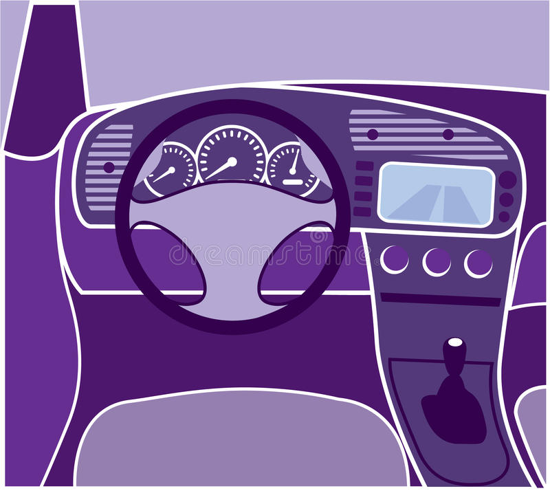 Vector del interior del coche libre illustration