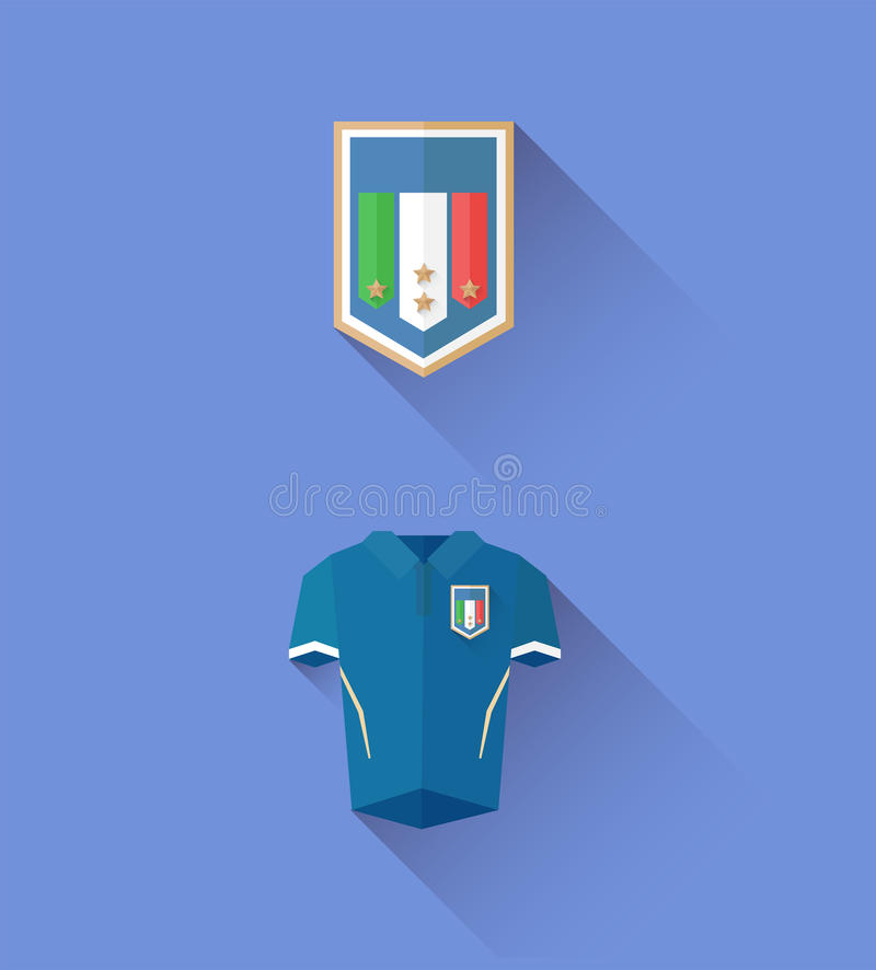 Vector del jersey y de la cresta de Italia stock de ilustración