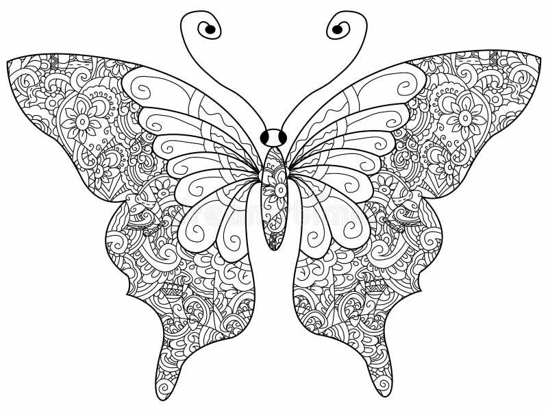 Moderno Mariposa Detallada Para Colorear Fotos - Ideas Para Colorear ...
