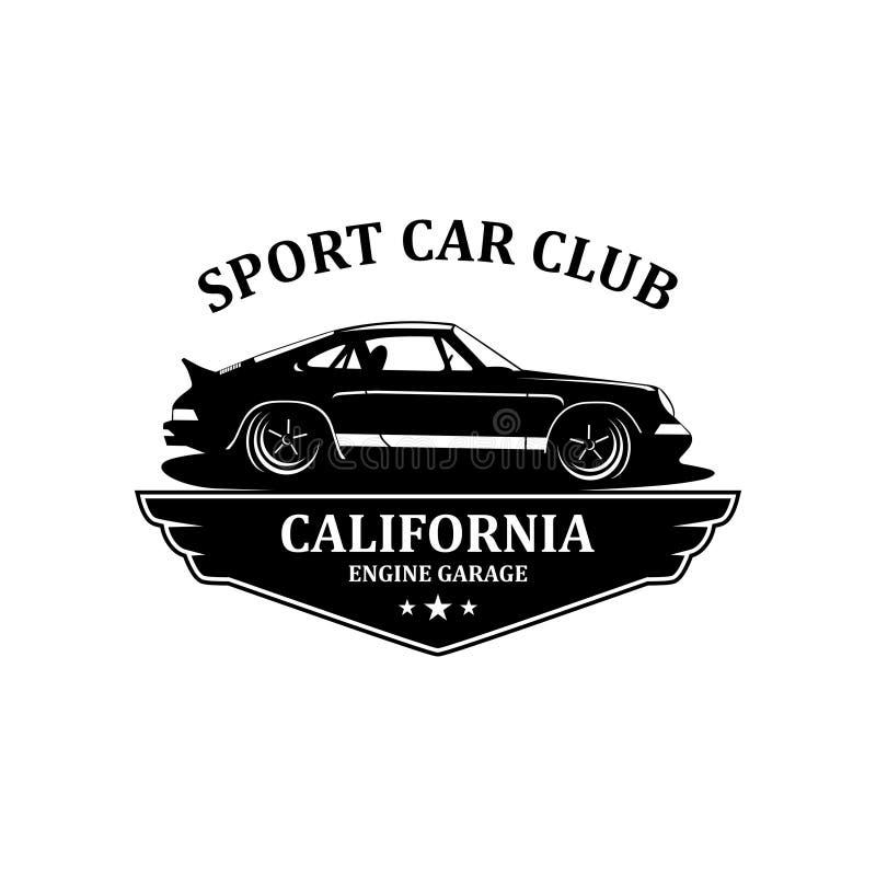 Vector del logotipo del club del coche deportivo libre illustration