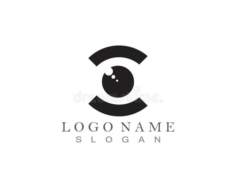 Vector - vector del logotipo del cuidado del ojo ilustración del vector