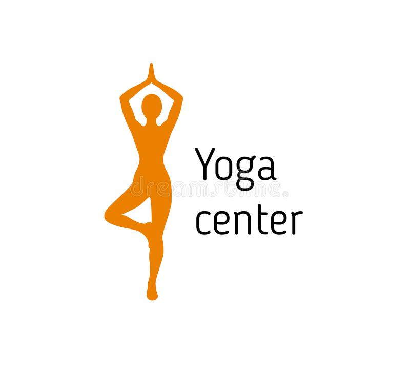 Vector del logotipo de la actitud de la yoga ilustración del vector