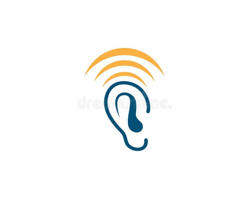 Vector del logotipo de la audición ilustración del vector