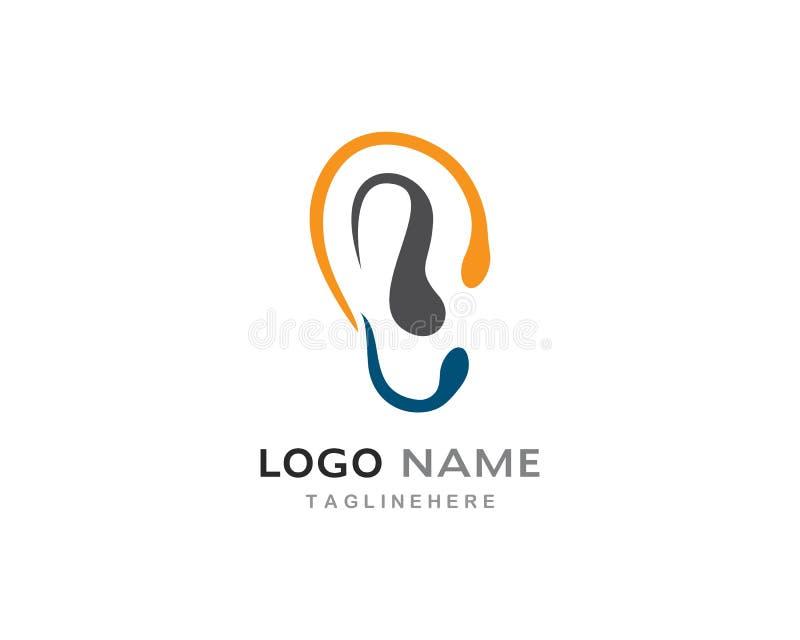 Vector del logotipo de la audición stock de ilustración