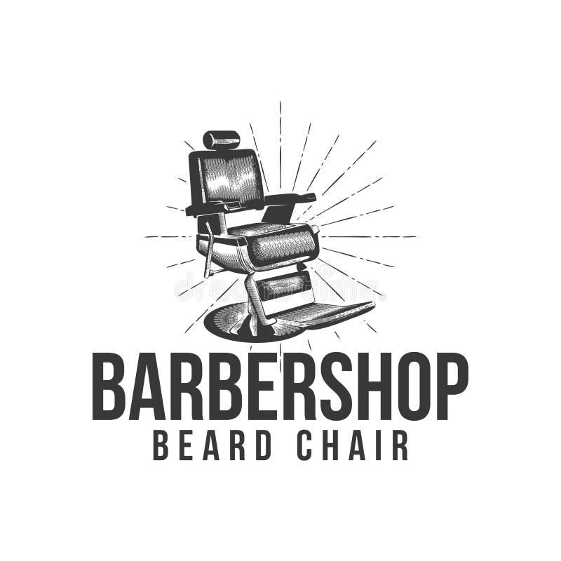 vector del logotipo de la barbería de la silla del vintage libre illustration