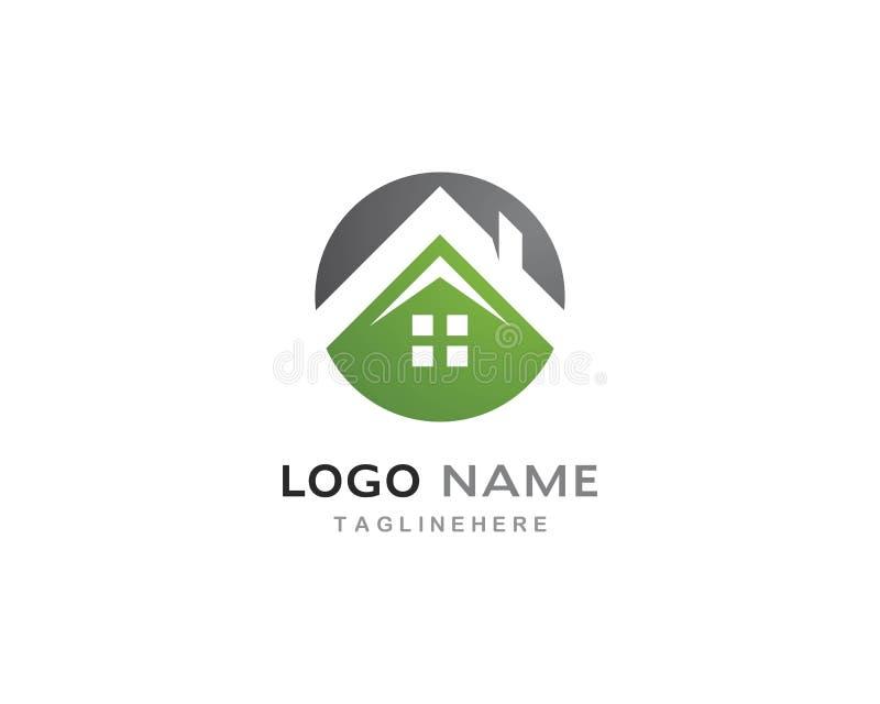 Vector del logotipo de la casa verde libre illustration