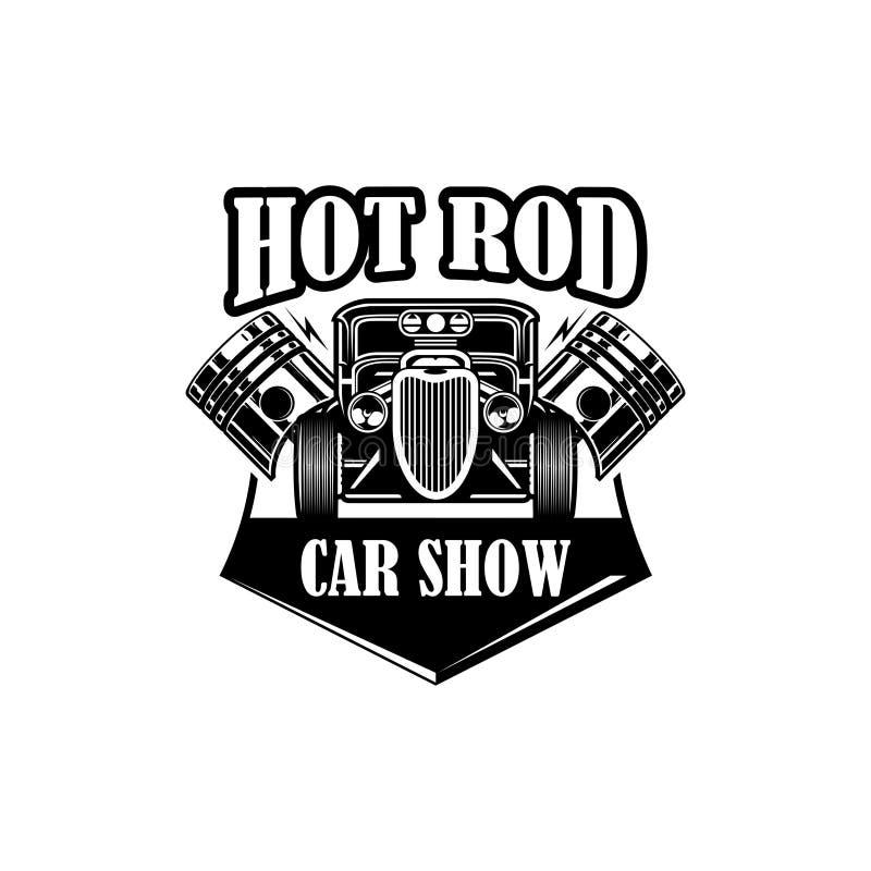 Vector del logotipo de la demostración de coche del coche de carreras stock de ilustración