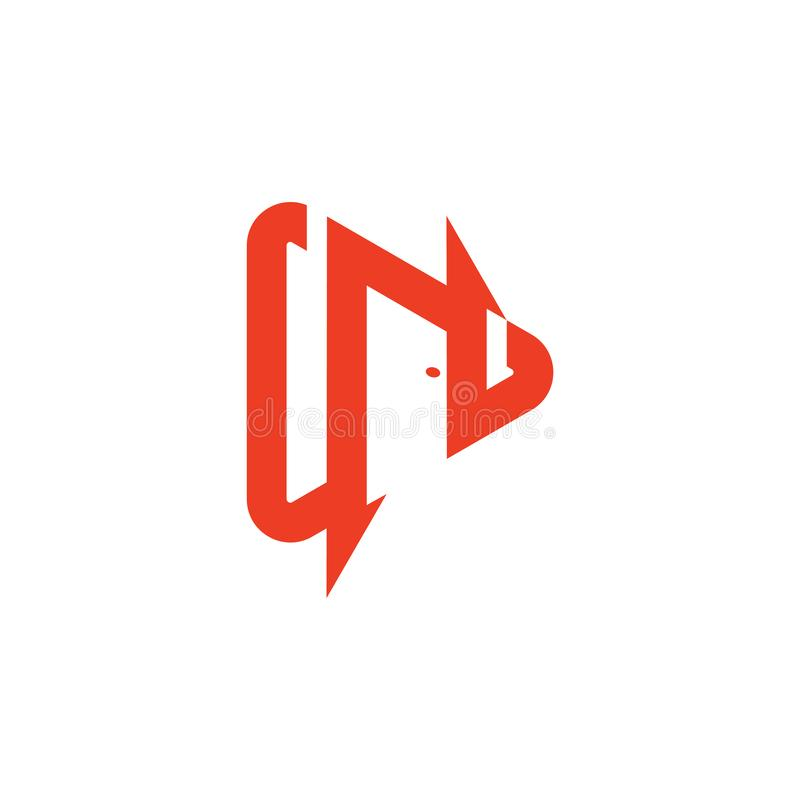 Vector del logotipo de la forma de la puerta de la letra n libre illustration