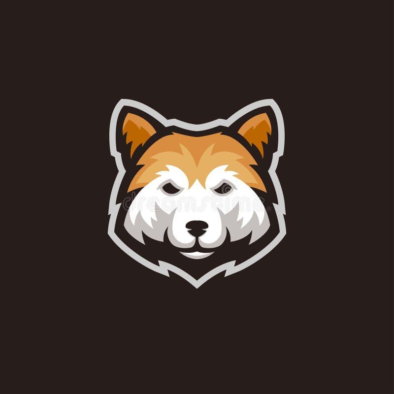 Vector del logotipo de la mascota de la cabeza de perro del inu de Shiba ilustración del vector