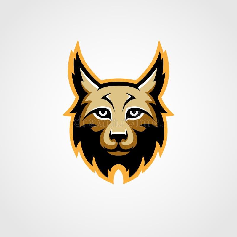Vector del logotipo de la mascota del lince ilustración del vector