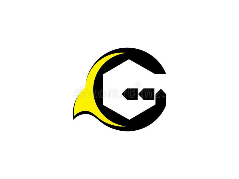 Vector del logotipo de la muestra de la comunidad de G de la letra Símbolo de la unidad Personal de la compañía Organización públ libre illustration