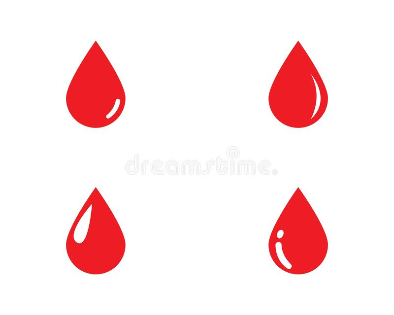 Vector del logotipo de la sangre ilustración del vector