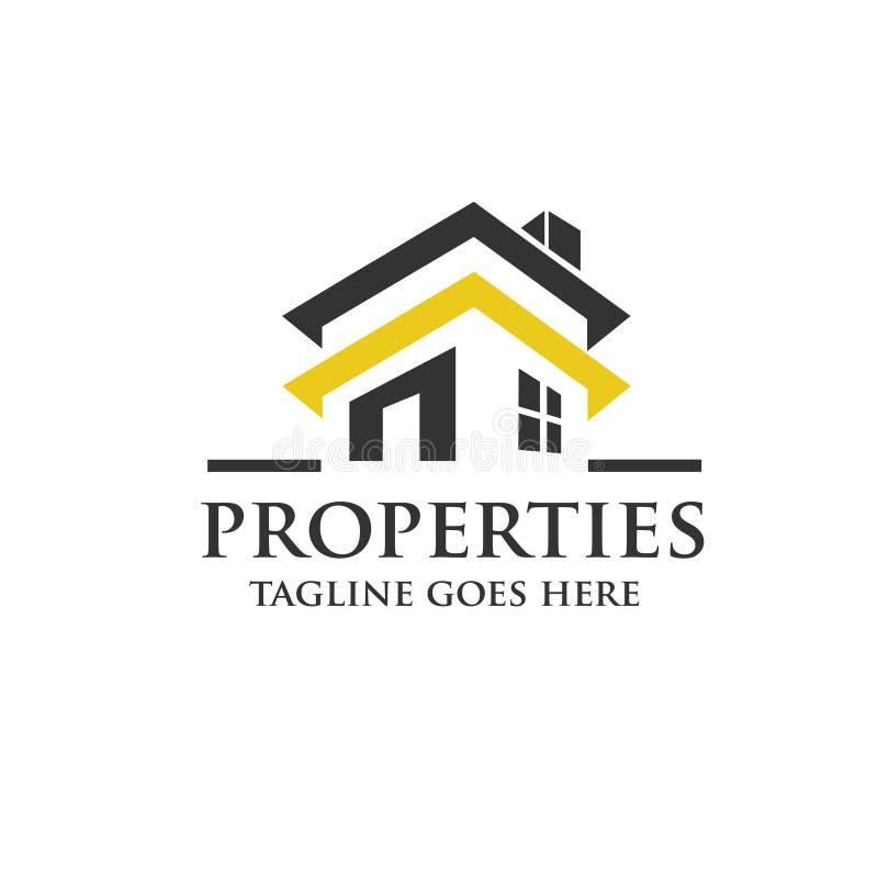 Vector del logotipo de las propiedades inmobiliarias de Crative ilustración del vector
