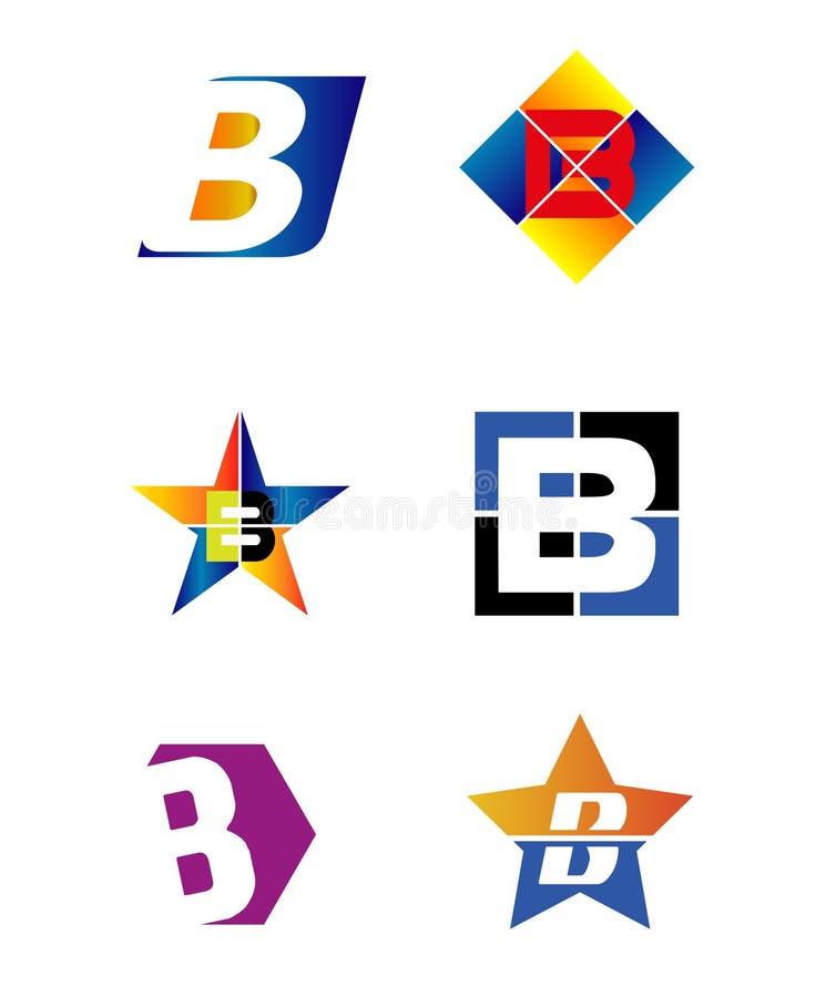 Vector del logotipo del alfabeto de la letra B ilustración del vector