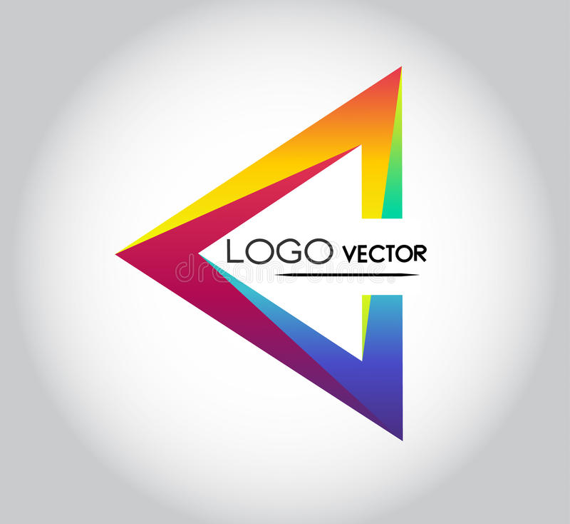 Vector del logotipo del triángulo fotografía de archivo