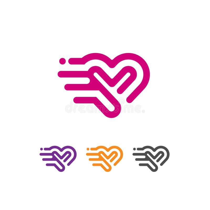 Vector del logotipo del vector del icono del corazón stock de ilustración