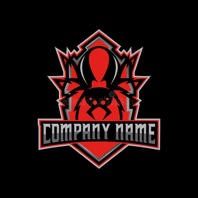 Vector del logotipo del deporte de la araña e de los Redbacks libre illustration