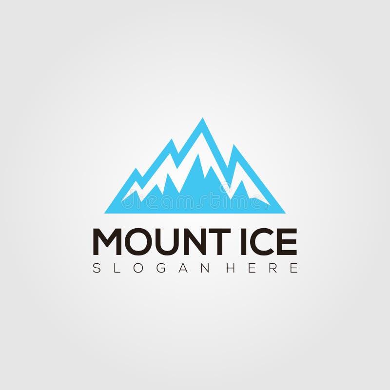 Vector del logotipo del hielo del montaje libre illustration